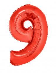 Palloncino alluminio gigante rosso numero 9