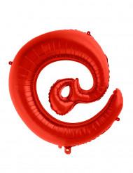 Palloncino alluminio rosso simbolo @