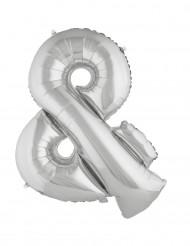 Palloncino alluminio argento simbolo &