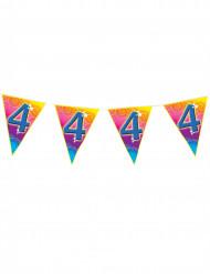 Ghirlanda di bandierine colorate 4 anni