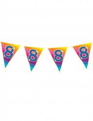 Ghirlanda di bandierine colorate 8 anni