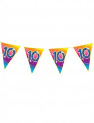 Ghirlanda di bandierine colorate 10 anni