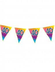Ghirlanda di bandierine colorate 40 anni
