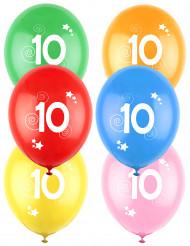12 palloncini colorati numero 10