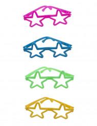 4 mini occhiali a stella colorati