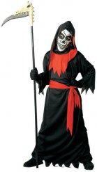 Costume della morte nero e rosso per bambino Halloween