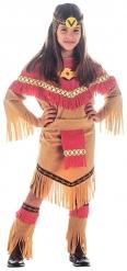 Travestimento da indiana marrone e rossa per bambina