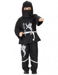 Travestimento da ninja bianco e nero per bambino