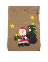 Sacco in iuta Babbo Natale