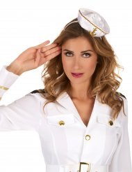 Cerchietto con mini cappello da marinaio bianco donna