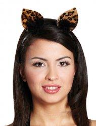 Cerchietto con orecchie da leopardo per adulto