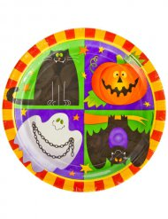 10 Piatti in cartone Happy Halloween 23 cm