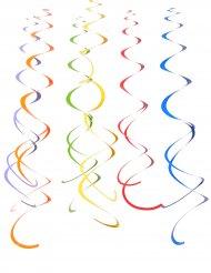 12 spirali colorate da appendere