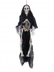 Sospensione scheletro con mantello nero Halloween