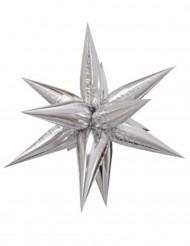 Palloncino alluminio stella 3D argento