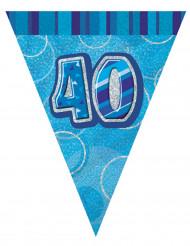 Ghirlanda con bandierine blu 40 anni