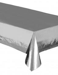 Tovaglia in plastica metallizzata argento