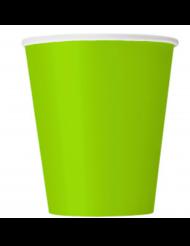 14 bicchieri in cartone verde mela