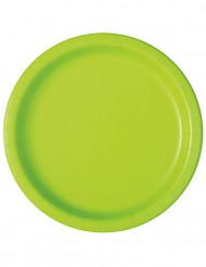 20 piattini in cartone verde mela 18 cm