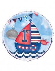 Palloncino alluminio 1° compleanno marinaio