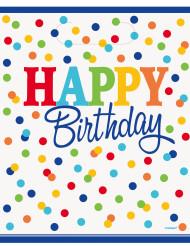 8 sacchetti regalo Happy Birthday pois multicolor