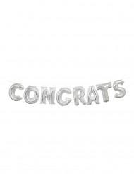 Palloncini alluminio Congrats argentato