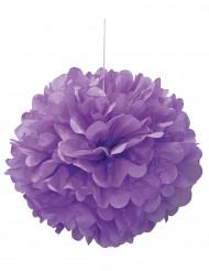 Pon pon viola di carta 40 cm