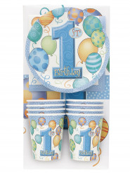 Kit coordinati tavola 1° compleanno blu