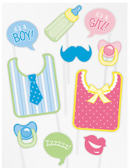Kit di 10 accessori photobooth baby shower