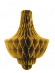 Decorazione alveolata a candeliere dorata