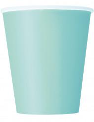 14 bicchieri di carta verde menta