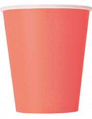 14 bicchieri di carta color corallo
