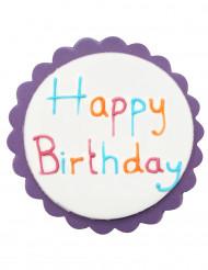 Decorazione per torte Happy Birthday colorata