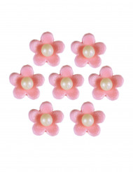 7 fiori di zucchero rosa per torta