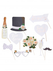 Kit 10 accessori photobooth matrimonio
