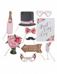 Kit photobooth 10 pezzi per matrimonio