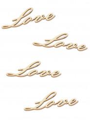 25 coriandoli da tavola Love in legno