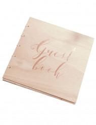 Libro delle firme in legno Guest book