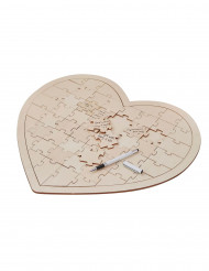 Puzzle di legno per scrivere un pensiero