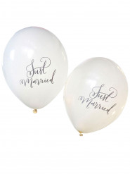 10 palloncini avorio Just married