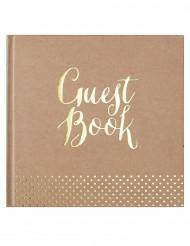 Libro delle firme kraft Guest book