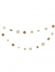 Ghirlanda con cerchi bianchi e oro