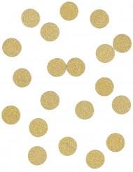 Coriandoli da tavola oro con brillantini