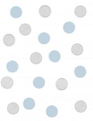 Coriandoli da tavola argento e celesti