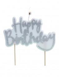 Candela Happy Birthday argentata