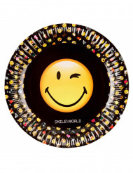 8 piatti in cartone Smiley emoticons™ 23 cm
