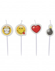 4 mini candele Smiley emoticons™