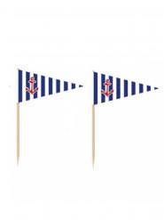 36 bandierine con stecchino ancora marina