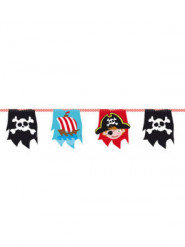 Ghirlanda con bandierine a tema pirata