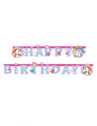 Ghirlanda Happy Birthday unicorno arcobaleno